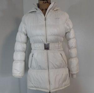 DKNY puffy white coat- kids